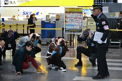 第1旅客ターミナルビル地区総合防災訓練